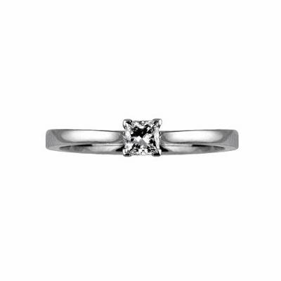 Claw Set Princess Cut Solitaire 0.30ct D SI1 IGI